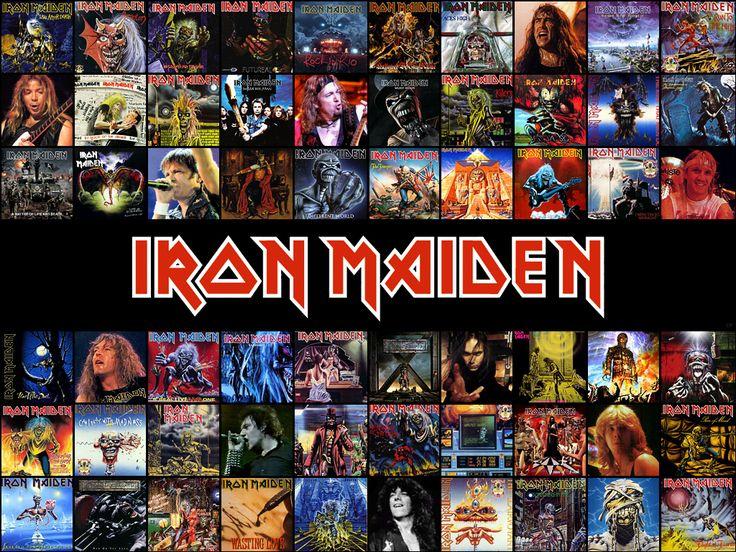 Iron Maiden Album Covers | iron-maiden-history-collage-wallpaper
