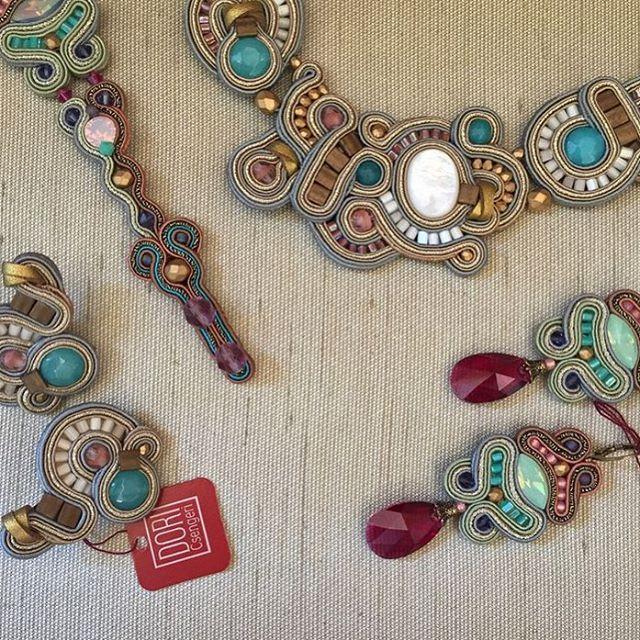 Soft pastel colors #doricsengeri #pastel #jewelry #pink #necklace #earrings