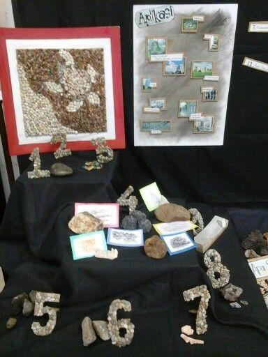 Display eksplorasi material : batu