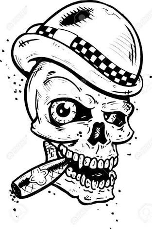 Resultado de imagen para diseños de tatuajes de calaveras fumando