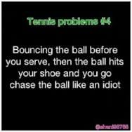 Why is this me? Why must this always be me? Any sport, you name it, I'm chasing that ball.