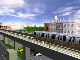 Hyderabad Metro Rail Project Animation