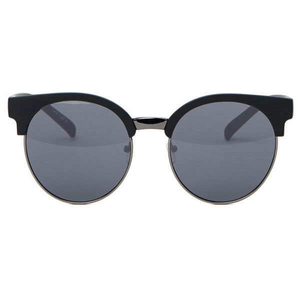 Quay Australia Quay Black Highly Strung Sunglasses ($39) ❤ liked on Polyvore featuring accessories, eyewear, sunglasses, glasses, okulary, matte sunglasses, quay eyewear, uv protection sunglasses, quay sunglasses and uv protection glasses