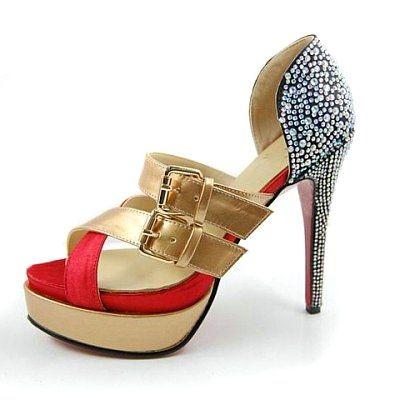 Ambertina Bejeweled Sandals Gold [l009ps0072]- US$ 97.99 - PersunMall.com