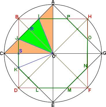 calcule de l'aire d'un octogone régulier (Page 1) / Entraide ... Plus