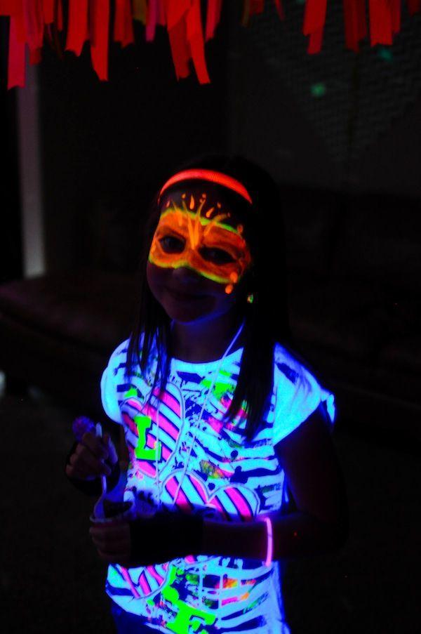 Neon Glow In The Dark Teen Birthday Party {Dance, Girl, Decor, Ideas}