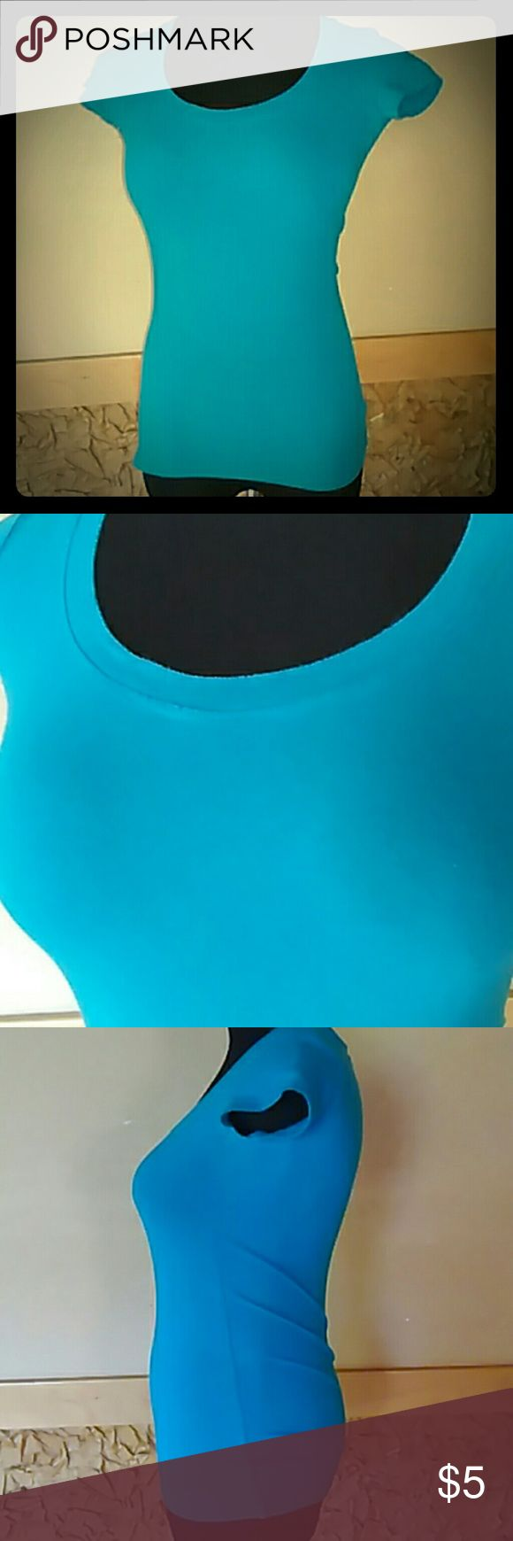 Teal Wet Seal t-shirt Teal colored (cover photo is truest color) t-shirt in good condition Wet Seal Tops Tees - Short Sleeve
