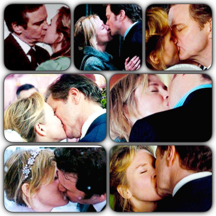 Colin Firth & Renee Zellweger - many kisses