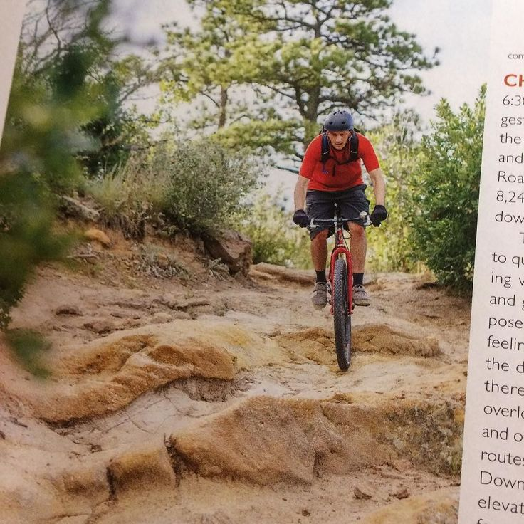 One time I rode a bike in a photo in a magazine. #colorado #coloradosprings #mtb #palmerpark #springsmagazine @flixaddiction