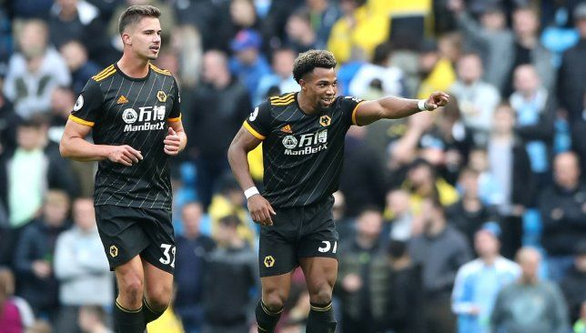 Adama Traore S Late Brace Earns Wolves Shock Victory At Man City Manchester City Premier League News Match Of The Day