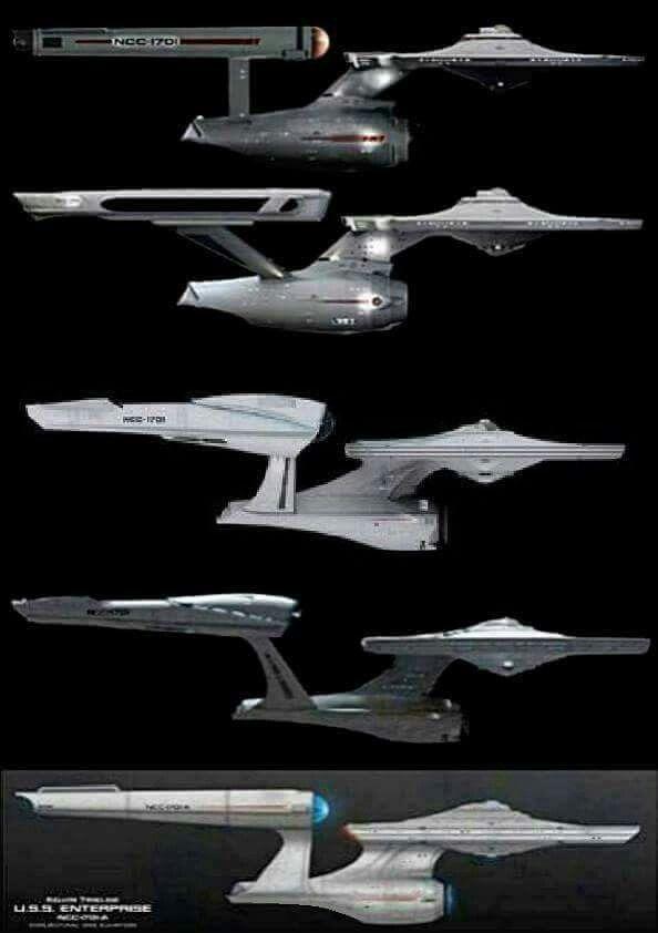 USS Enterprise (NCC-1701) versions.