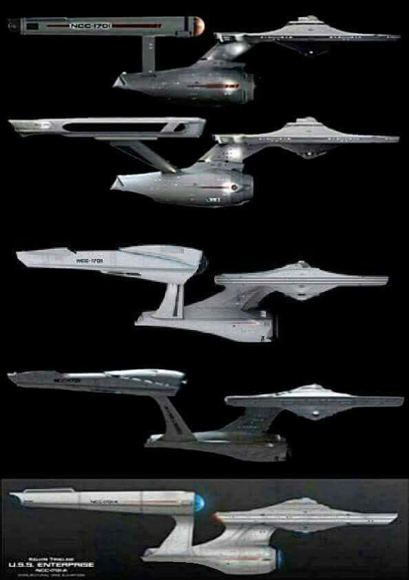 USS Enterprise (NCC-1701) versions.