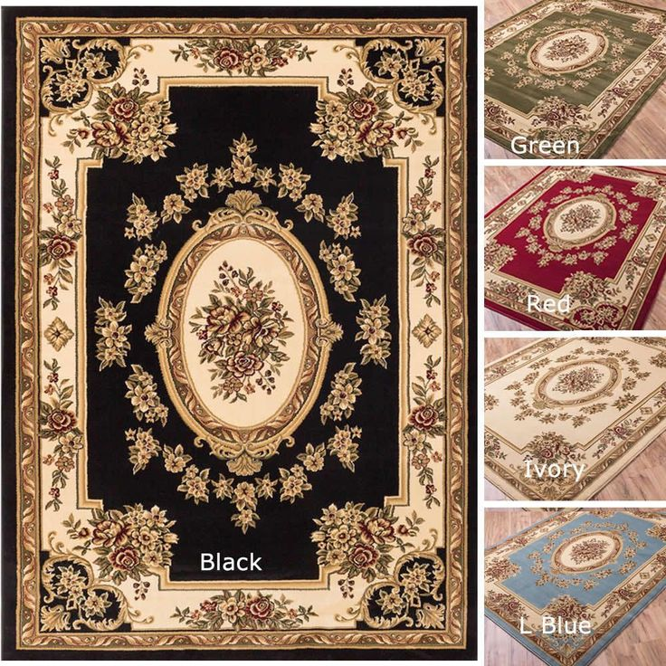 Well Woven Vanguard French Aubusson European Floral Medallion Thick Plush Area Rug