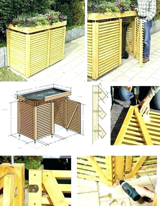 Trash Enclosure Size Google Search Outdoor Recycling Bins Garbage Can Shed Building A Shed