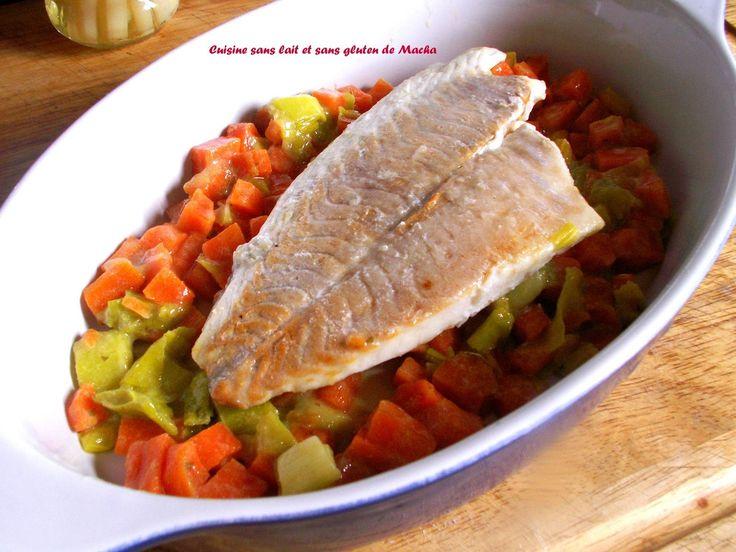 Filet de dorade sur lit de poireaux et carottes