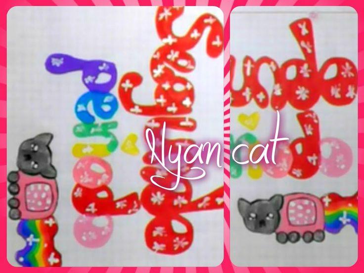 Como marcar cuadernos (ESTILO NYAN CAT) | Lila lilolep :3                                                                                                                                                     Más