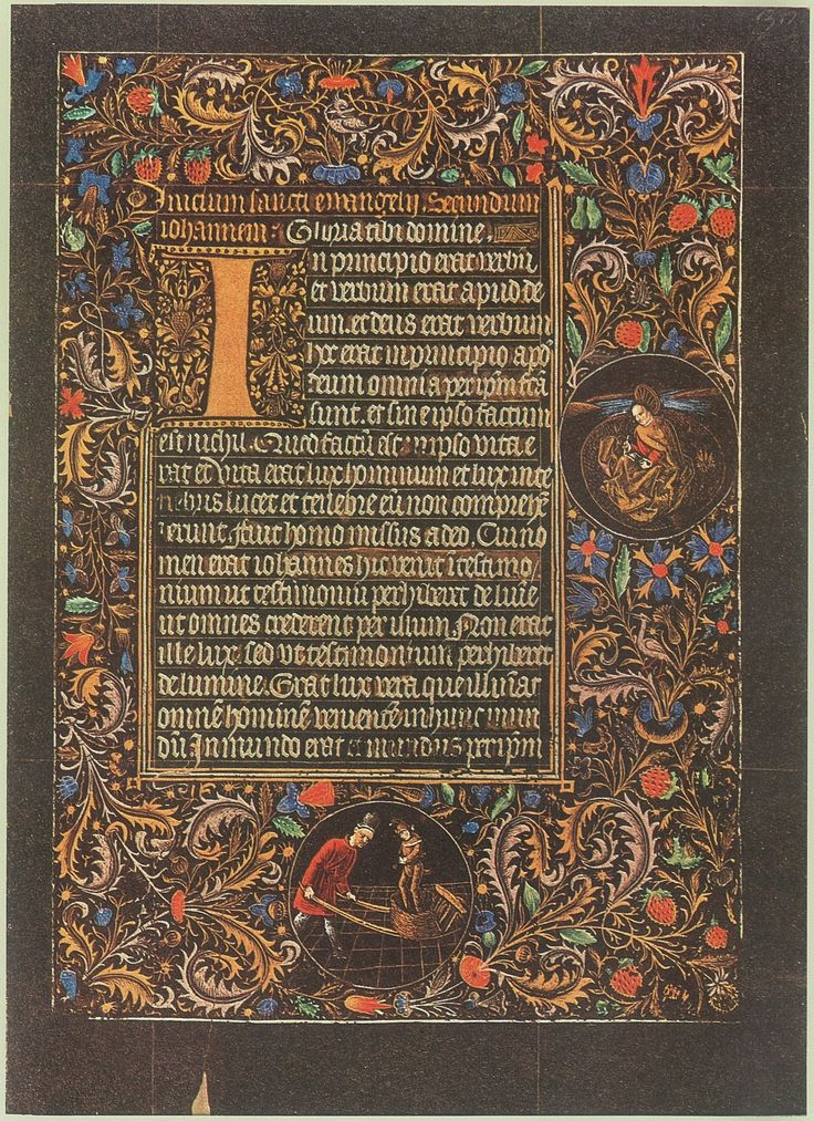 The Black Hours of Galeazzo Maria Sforza, made in Bruges between 1466-76.