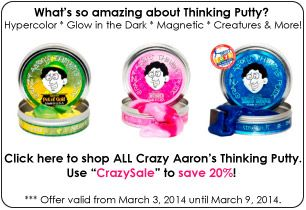 Crazy aaron's thinking putty coupon code