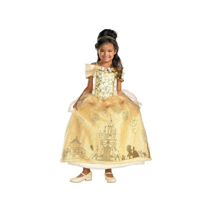 Disney Belle Costume - Toddler, Girl's, Size: 3T-4T, Multicolor
