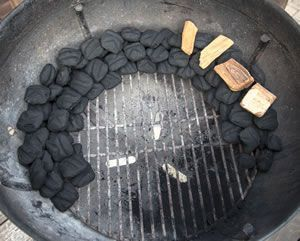 Here's how to properly set up a charcoal grill like the Weber Kettle for 2 zones cooking. http://grillsidea.com/how-to-use-charcoal-grill/
