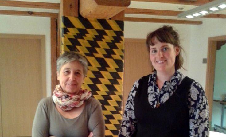 Dwie artystki Laura-Jane Atkinson i Hildegard Skowasch spotkały się w Ustce, gdzie przez cztery tygodnie pracowały w Centrum Aktywności Twórczej w ramach programu artists in residence. #Ustka24Info
