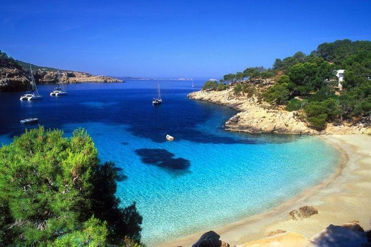 Cala Salada, Beach, Ibiza @}-,-;--