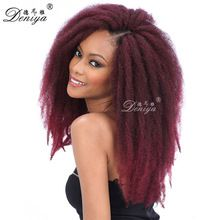 kinky twist synthetic afro twist braid for hair extension Afro textured Hair