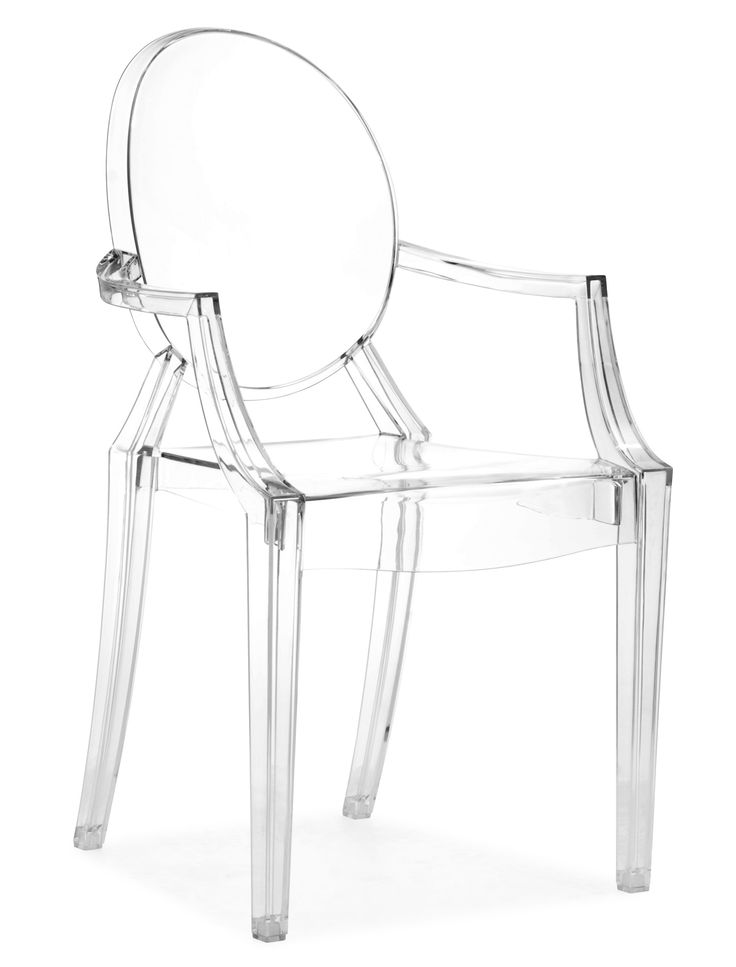 Xandra Chair, Clear (Set of Two)