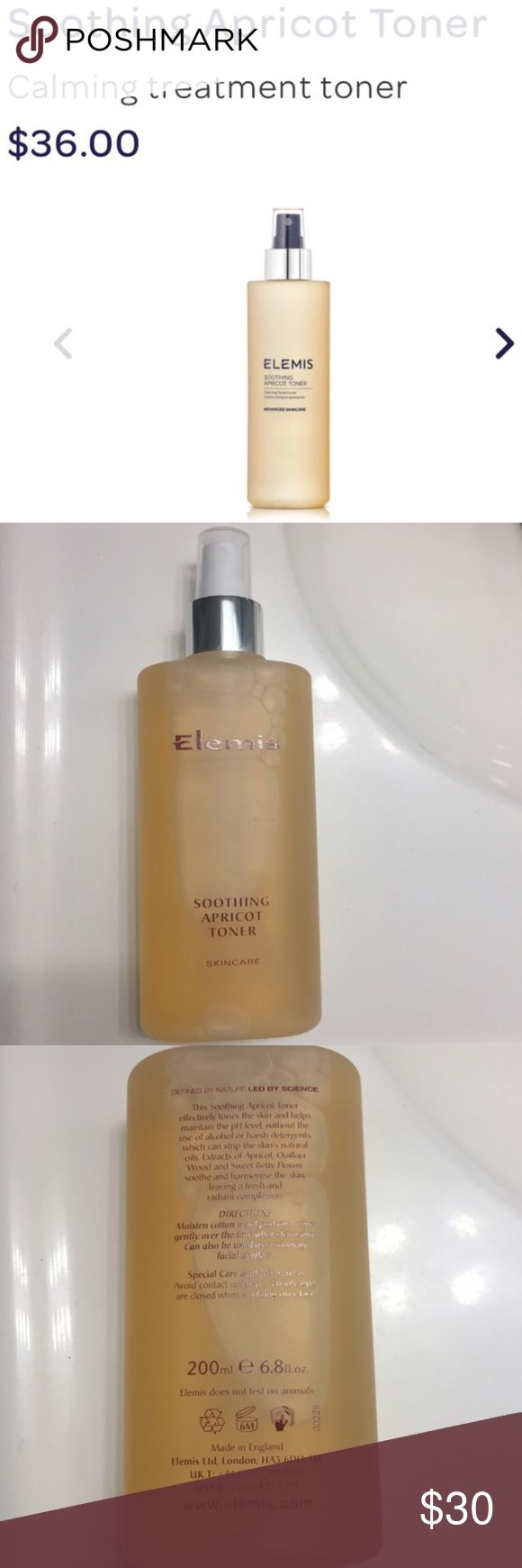 New Facial Toner Never used. Elemis Smoothing Apricot Toner. 200ml (6.8fl oz). Retail $36.  no trades | offer button only please Makeup
