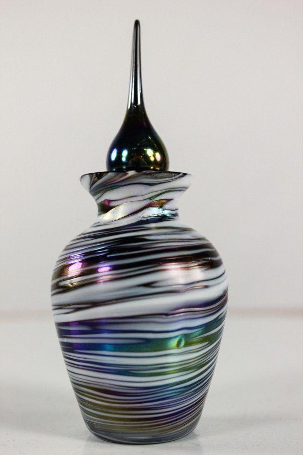 alter Parfum Flakon Glas Irisierend Stöpsel Fläschchen Jugendstil | eBay