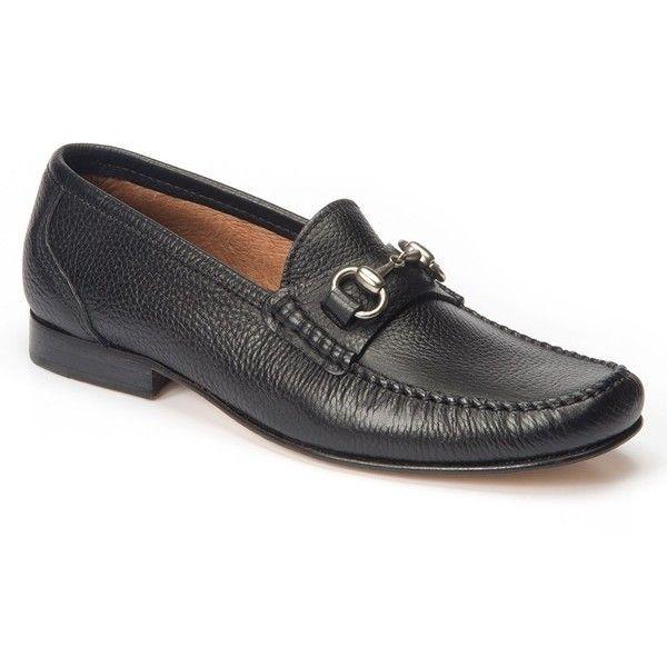 Men's Sandro Moscoloni Goya Bit Loafer (8.685 RUB) ❤ liked on Polyvore featuring men's fashion, men's shoes, men's loafers, black leather, mens black leather shoes, mens horsebit loafers, mens black loafers shoes, mens leather shoes and mens bit loafers