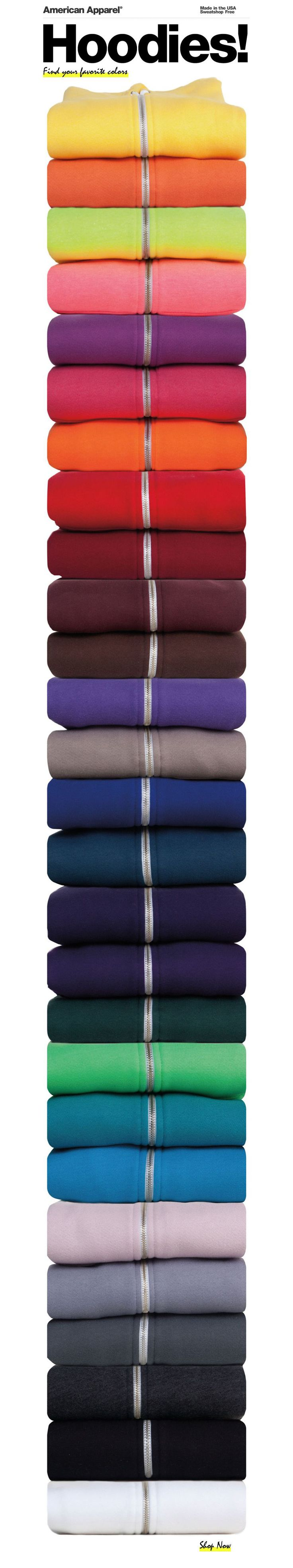 got this email from american apparel today...drooooling. very clever. 29 colors - $46.00 each