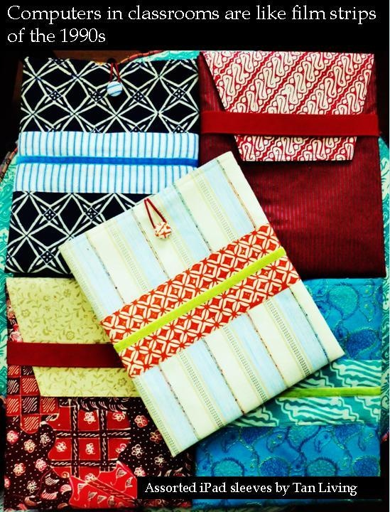 assorted batik iPad sleeves