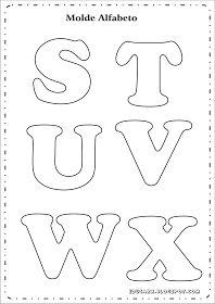 Modelo de letras para cartaz s t u v w x