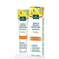 Kneipp Kneipp Arnica Joint & Muscle Active Gel by Kneipp. $12.95. Helps to improve circulation, relieve pain and reduce redness. The quick absorbing and cooling gel helps to revitalize, ease muscle discomfort and fatigue and soothe puffiness in legs and feet. Calm your weary legs with Kneipp Arnica Joint & Muscle Active Gel. Calm your weary legs with Kneipp Arnica Joint & Muscle Active Gel. Helps to improve circulation, relieve pain and reduce redness. The quick a...