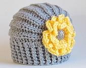 CROCHET PATTERN Be Mine a linked heart hat in 8 by TheHatandI