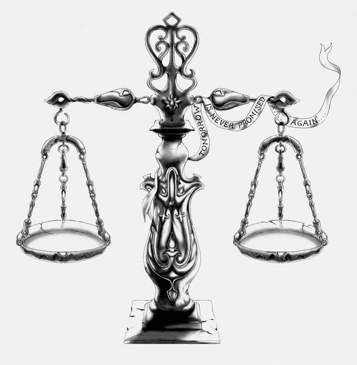 Found on bing from scale tattoo libra
