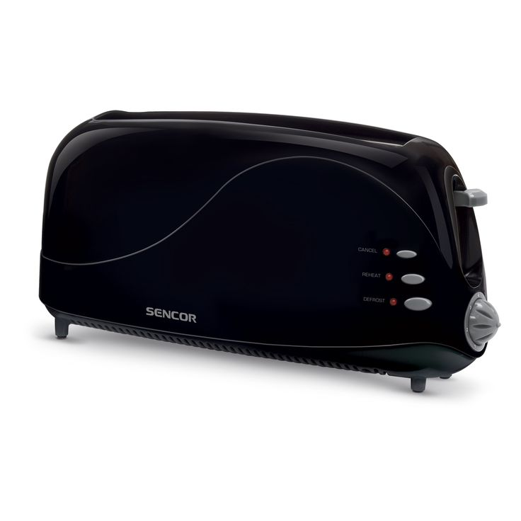 Toaster STS 3050BK - 1 long opening for toasting a whole slice of bread or two toasts (250 mm) - Suitable for making both thick and thin toasts - Electronic timer - 7 toasting intensity levels