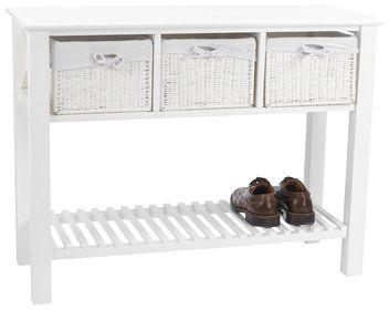 Konsola OURE 3 szuflady biała