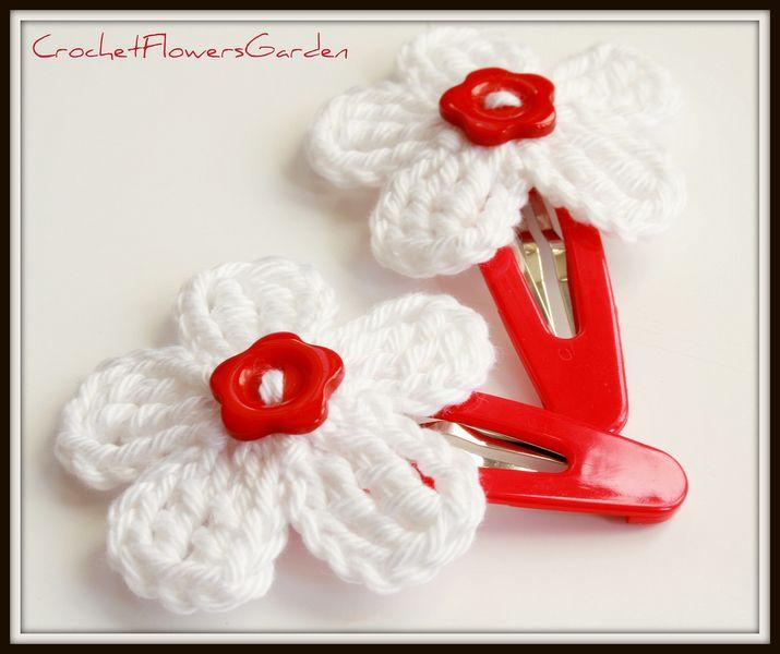 Crochet Hair Clips : crochet hair clips