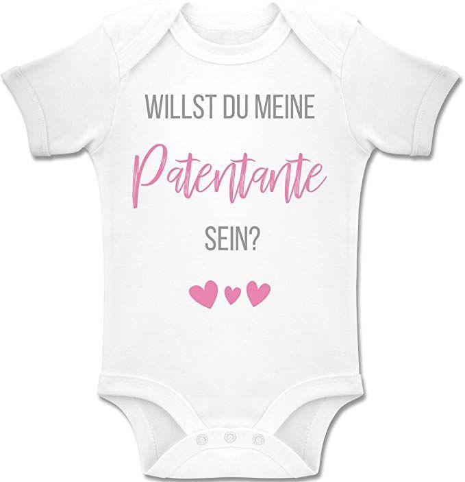 Spr/üche Baby Shirtracer Ich Habe eine verr/ückte Patentante lila Baby T-Shirt Langarm