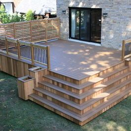 Patio Deck Design, corner steps