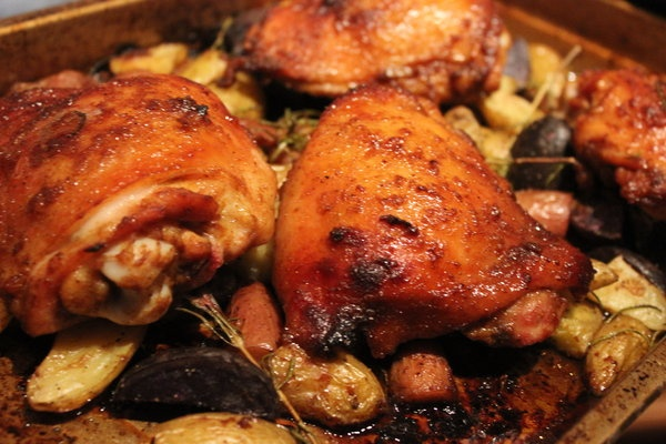 ... Project: Roasted Potatoes with Orange Chicken and Romesco Sauce
