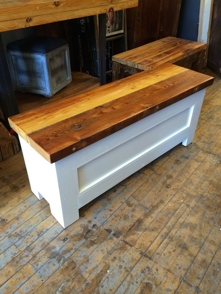 Our door benches, made from reclaimed doors, into beautiful, functional  pieces of furniture. They hinge open for additional storage