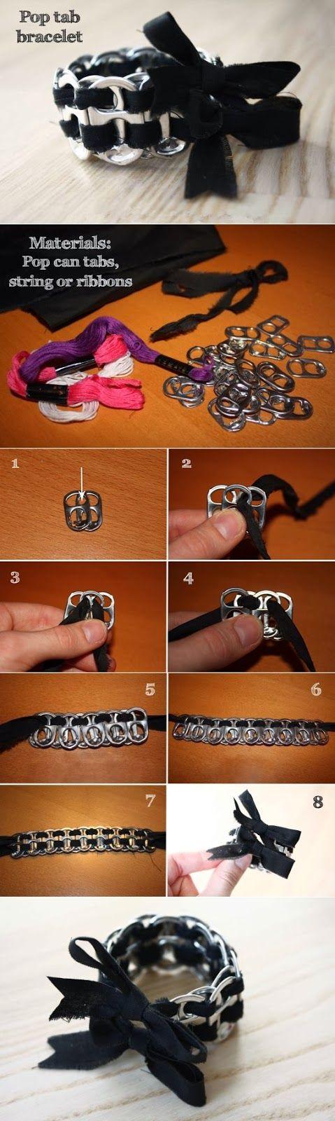 DIY : Pop Tab Bracelet would never wear it but pretty cool