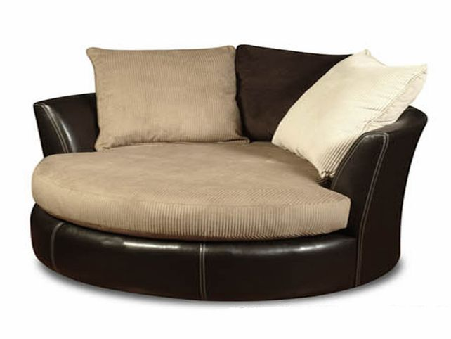 Oversized Round Swivel Chair Black Home Improvements
