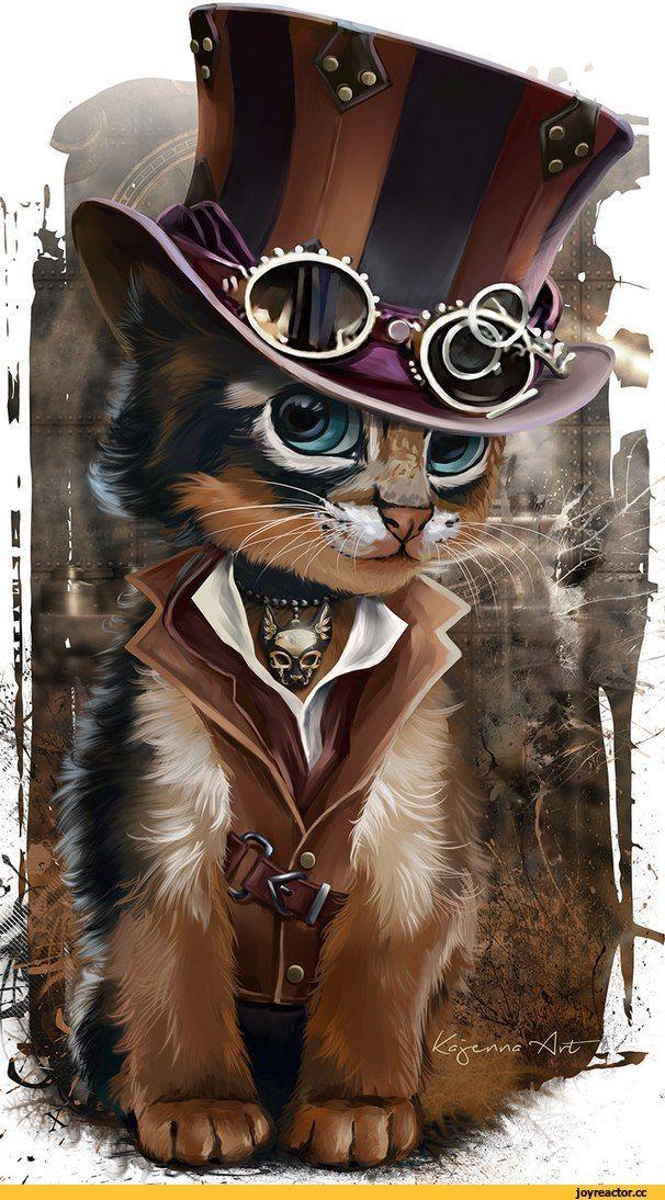 котэ,прикольные картинки с кошками,стимпанк,милота,песочница