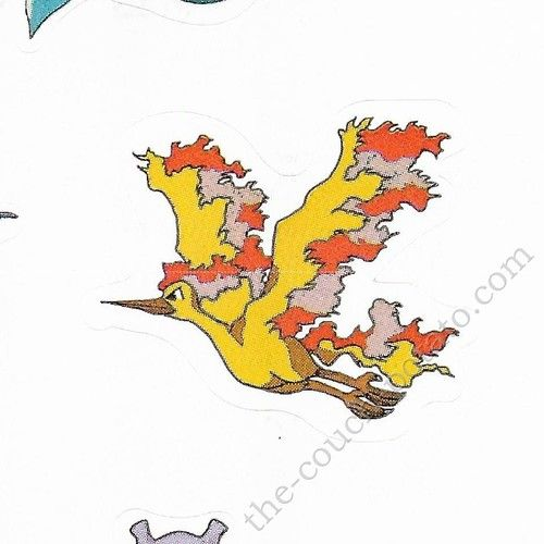 Pokemon Moltres small sticker 5523-146