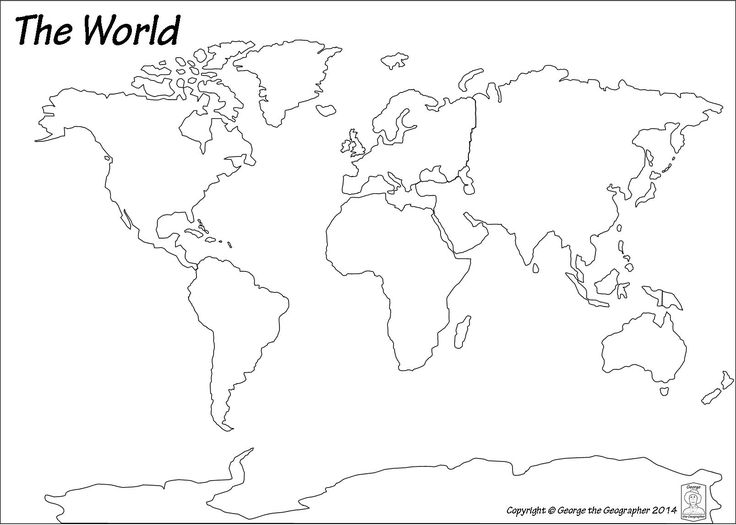 Image result for black and white map of the world pdf