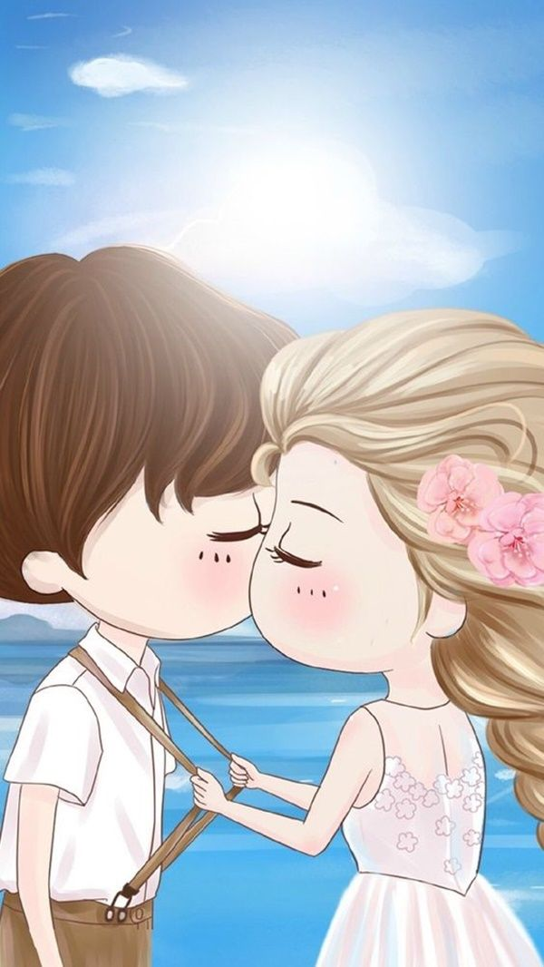 Cute Love Couples Wallpapers For Mobile 60 Cute Cartoon Couple Love Images Hd Cartoon Love